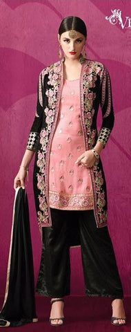 Black , Pink,Georgette,Heavy designer party wear suits