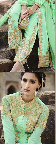 Long salwar Suits with fusion designer for wedding