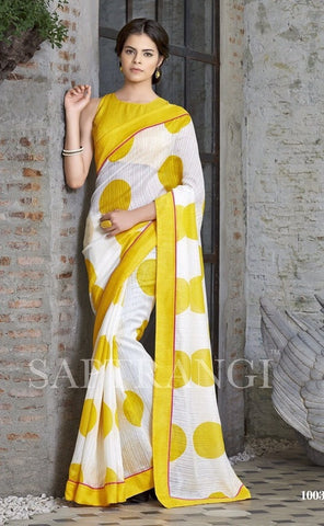 Saree Multi Colour,Linen