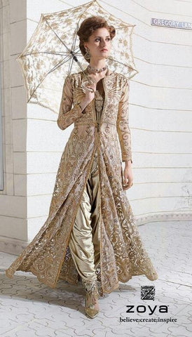Suits Beige,Net and Georgette