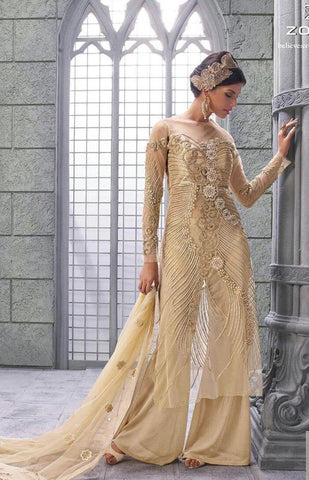 Cream,Silk,Net,Designer suits anarkali heavy embroidery suits