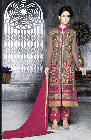 Suits Fabric details : Royal georgette ,Pink