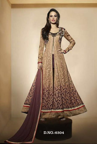 Beige  ,Net,Heavy designer party wear suits
