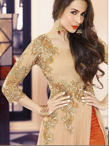 Designer long floor length georgette semi stitched suits
