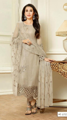 Suits Beige,Faux Georgette