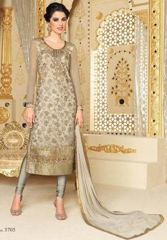 Grey,Net,Heavy designer party wear styles suits