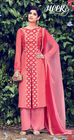 REd,Cotton satin,Designer straight party wear salwar suits