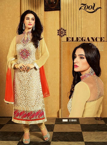Beige , Red,Fox Georgette,Designer straight suits knee length long suits