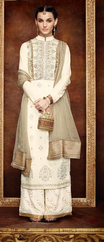 Suits Cream,Georgette