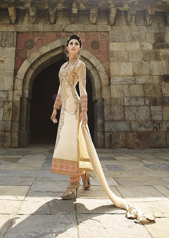 Designer Beige Anarkali for parties wedding and engagement