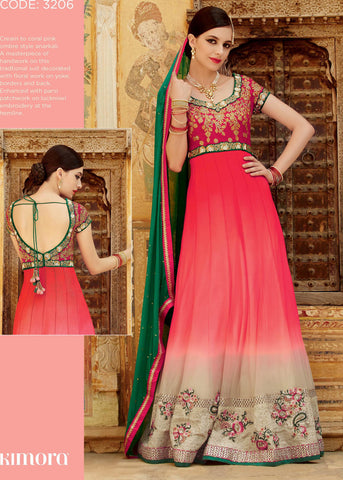 Red,Net,Anarkali designer party wear suits