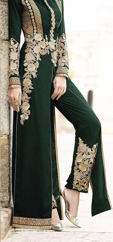 Designer Green Long Suit for Wedding,Reception and Parties