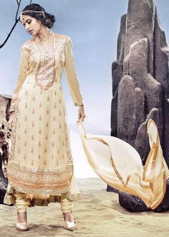 Beige,Georgette,Party wear heavy designer suits