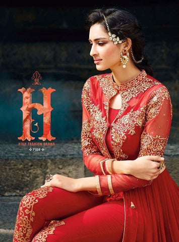 Net and Gold work salwar suit