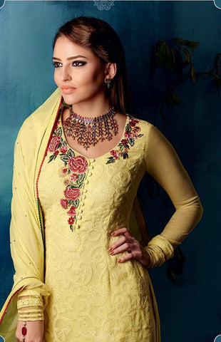 Heer Pure Georgette Suit with bemberg chiffon dupatta