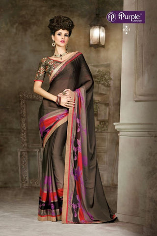Purple Saree 1001