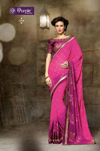 Purple Saree 1004