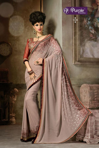 Purple Saree 1005