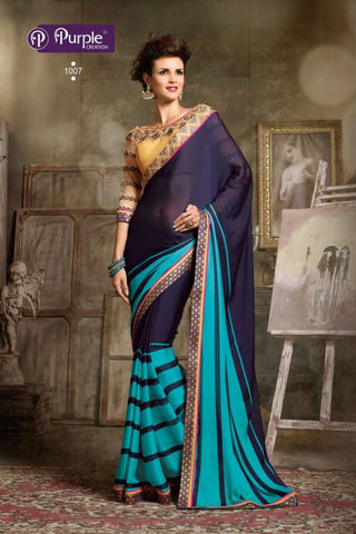 Purple Saree 1007