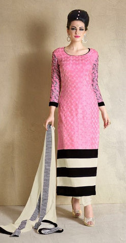 Pink,Georgette,Party wear designer suits