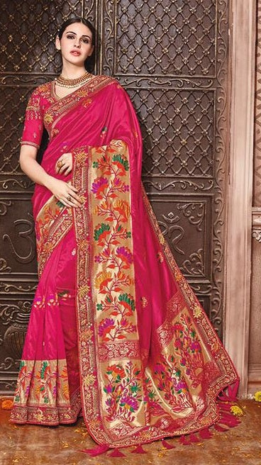 50113deb90fede Buy Online Bridal And Party Wear Sarees On Cash On Delivery ...