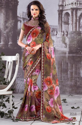 Saree Multicolor,Georgette