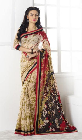 Multicolor,Silk,Designer partywear saree for party