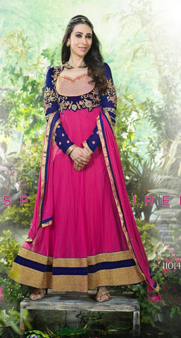 Anarkali suits  Pink , Blue,Pure Net & Georgette