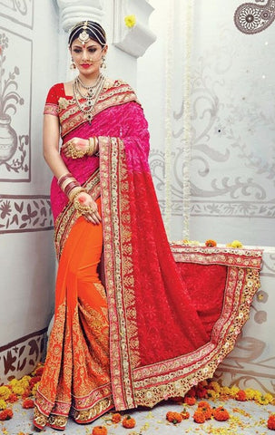 Multicolor,Georgette,heavy designer party wear saree