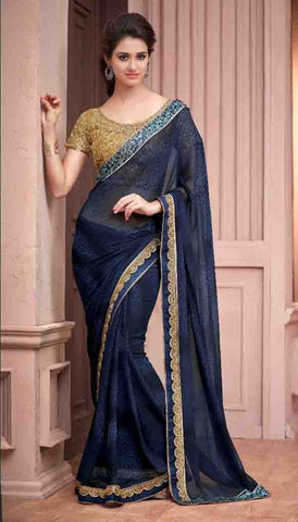Saree Grey , Beige,Georgette