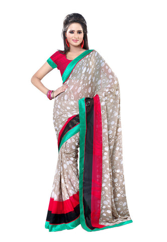 Grey  Marbal Jacquard saree