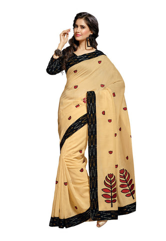 Cream color Cotton saree