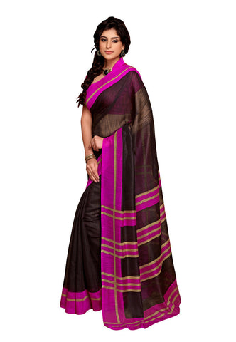 Black & Pink Art Silk saree