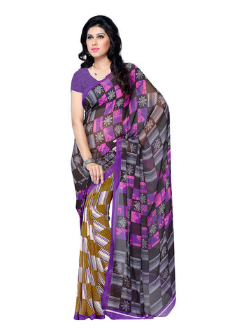 Black & Violet Weightless Georgette saree