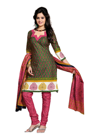 Green Cotton Salwaar Suits