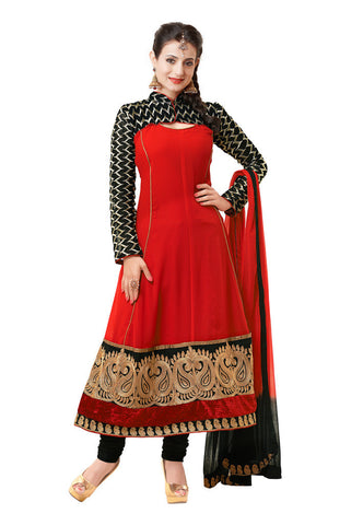 Red Georgette suits