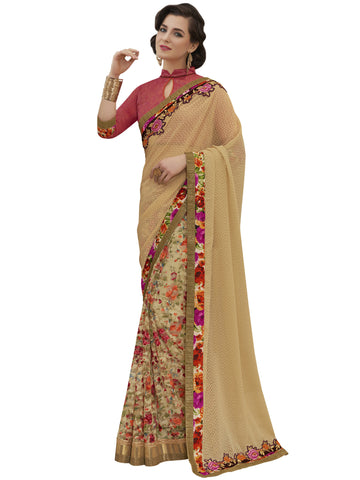 Multi,Georgette Jacquard,Party wear designer saree