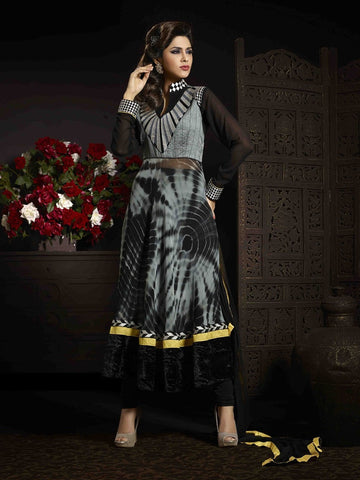 Buy georgette suits,and cotton,color  : grey