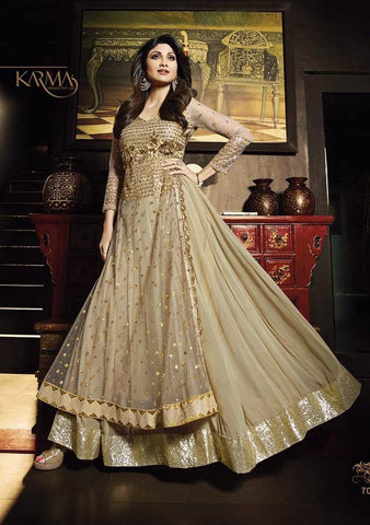Anarkali suits Golden,Net