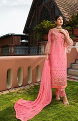 Pink Satin Georgette Party Wear Suit With  Dupatta