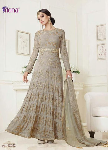 Grey,Georgette,Heavy party wear designer suits