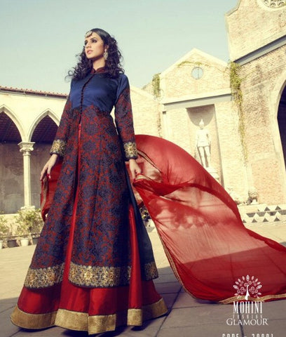 Red , Blue,Silk,Party wear designer suits