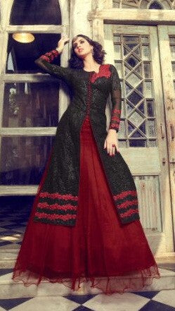 Black , Red,Geoegette,Party wear designer suits