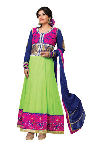 Green Georgette Party Wear suits