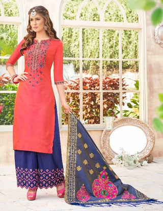 Red Salwar Suit With Dupatta