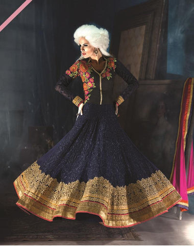 Blue,Layer,Heavy designer anarkali suits