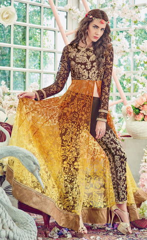 Brown , Yellow,Brasso,Heavy designer pary wear suits