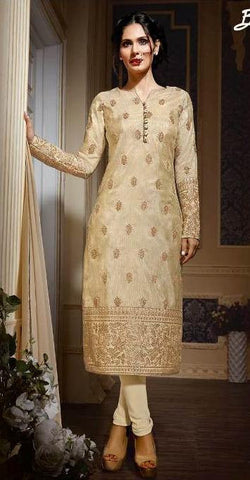 Beige  ,Silk,party wear designer suits