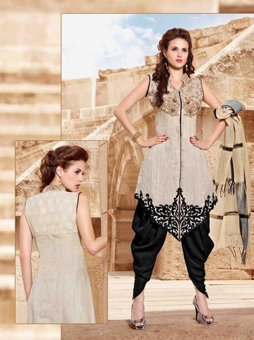 Beige , Black,Candrani banarsi,designer suits party wear suits with embroidery work