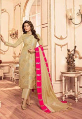 Beige Silk Party Wear Salwar Suit With  Dupatta